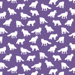 Little Fox Silhouette in Ultra Violet