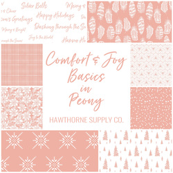 Comfort and Joy Basics Fat Quarter Bundle in Peony