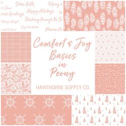 Comfort and Joy Basics Fat Quarter Bundle in Peony
