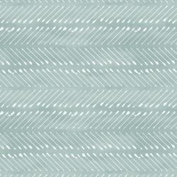 Chevron Arrows in White on Blue Lagoon Wash