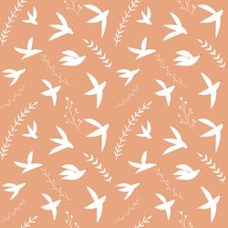 Birds In Flight in Terracotta