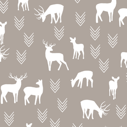 Deer Silhouette in Taupe