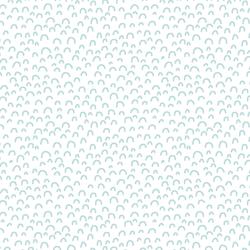 Doodle in Glacier Blue on White