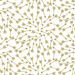 Arrows in Gold on White