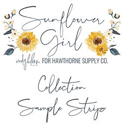 Sunflower Girl Sample Strip