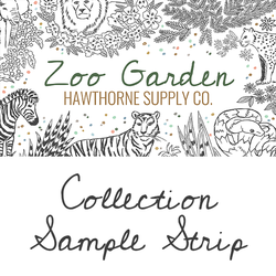 Zoo Garden Sample Strip