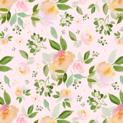 Spring Blossoms in Soft Peony