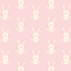 Spring Bunny in Pink Lace