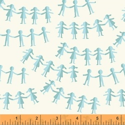 Paper Dolls in Blue