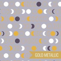 Moon Phases in Grey