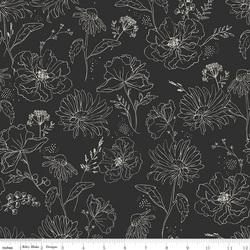 Wildflowers in Black
