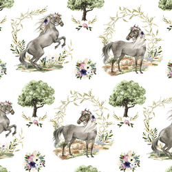 Royal Horses in Garden
