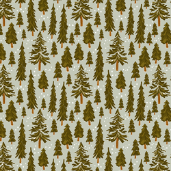 Snowy Pines in Iced Sage
