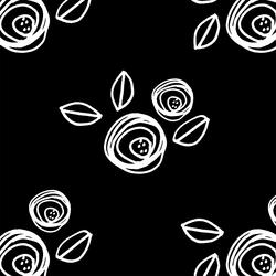 Regal Roses in Black