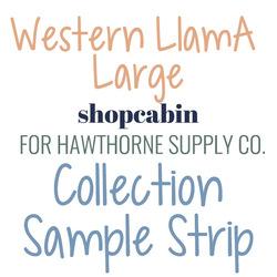 Western Llama Sample Strip Large