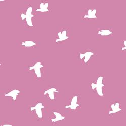 Flock Silhouette in Wisteria