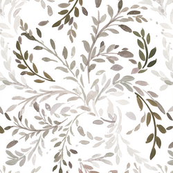 Willow Vines in Warm Gray