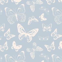 Butterflies in Light Periwinkle