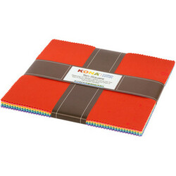 """Kona Solid 10"""" Square Pack Curated By Darlene Zimmerman (1930's Palette)"""