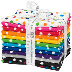Dot and Stripe Delights Fat Quarter Bundle in Small Dot
