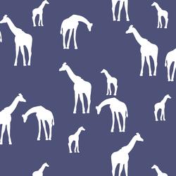 Giraffe Silhouette in Indigo