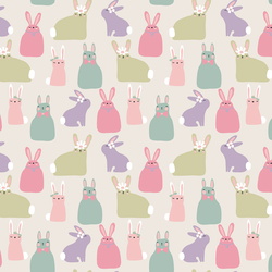 Bunnies in Sweet Pastel