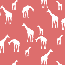 Giraffe Silhouette in Poppy