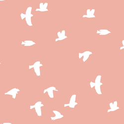Flock Silhouette in Peony