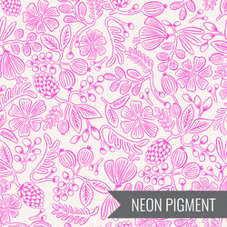Moxie Floral in Neon Pink Pigment