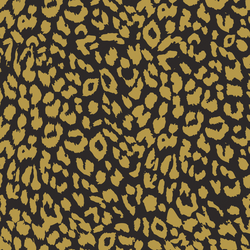 Leopard in Gold Glow on Autumn Brown
