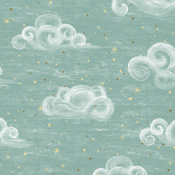 Starry Clouds in Dusty Aqua
