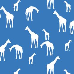 Giraffe Silhouette in Cerulean
