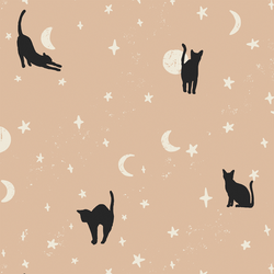 Large Moonstruck Cats in Blush Pink