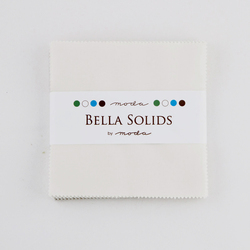 Bella Solids Charm Pack in Feather White