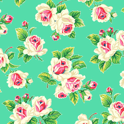 Rose Bunch in Bright Green