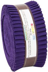 """Kona Solid 2.5"""" Strip Roll in Purple"""