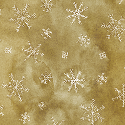Snowflake in Holiday Gold