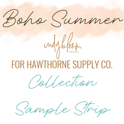 Boho Summer Sample Strip