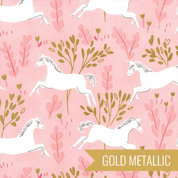 Unicorn Forest in Blossom Metallic