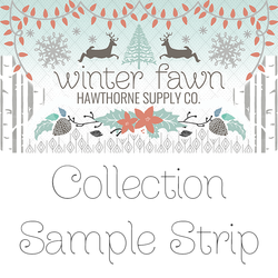 Winter Fawn Sample Strip