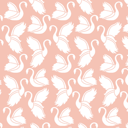 Swan Silhouette in Petal