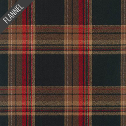 Mammoth Night Tartan Plaid Flannel in Russet