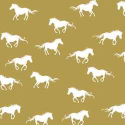 Horse Silhouette in Gold