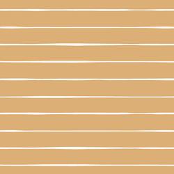 Stripe in White on Golden Mustard