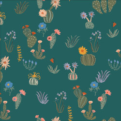 Prickly Florals in Green