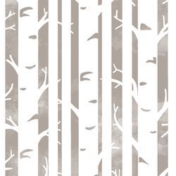 Big Birches in Taupe