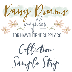Daisy Dreams Sample Strip