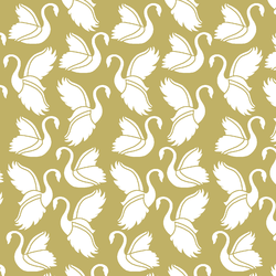 Swan Silhouette in Brass
