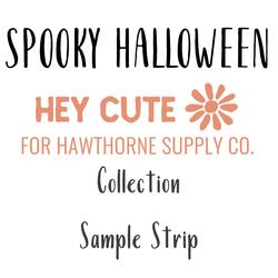 Spooky Halloween Sample Strip