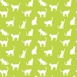 Cat Silhouette in Lime